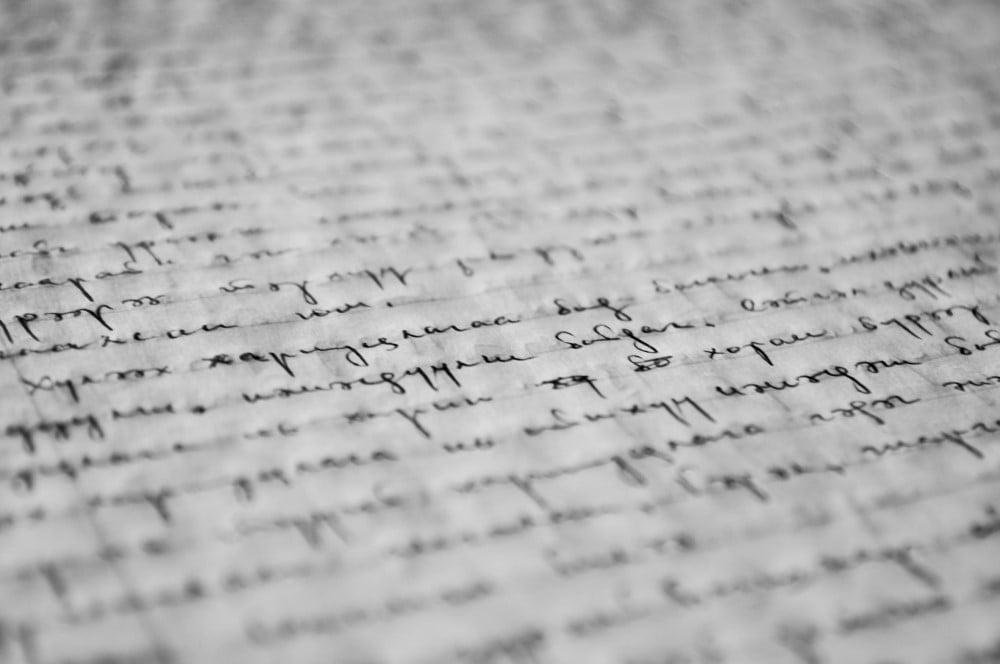 Håndskrift på papir